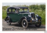 Personalised Classic Car Greetings Card